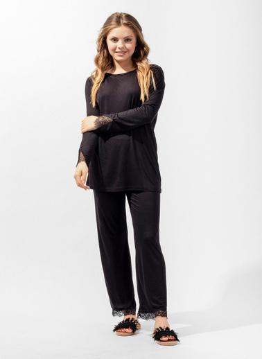 Katia & Bony Silver Line Secret Kadın Pijama Takımı  Siyah